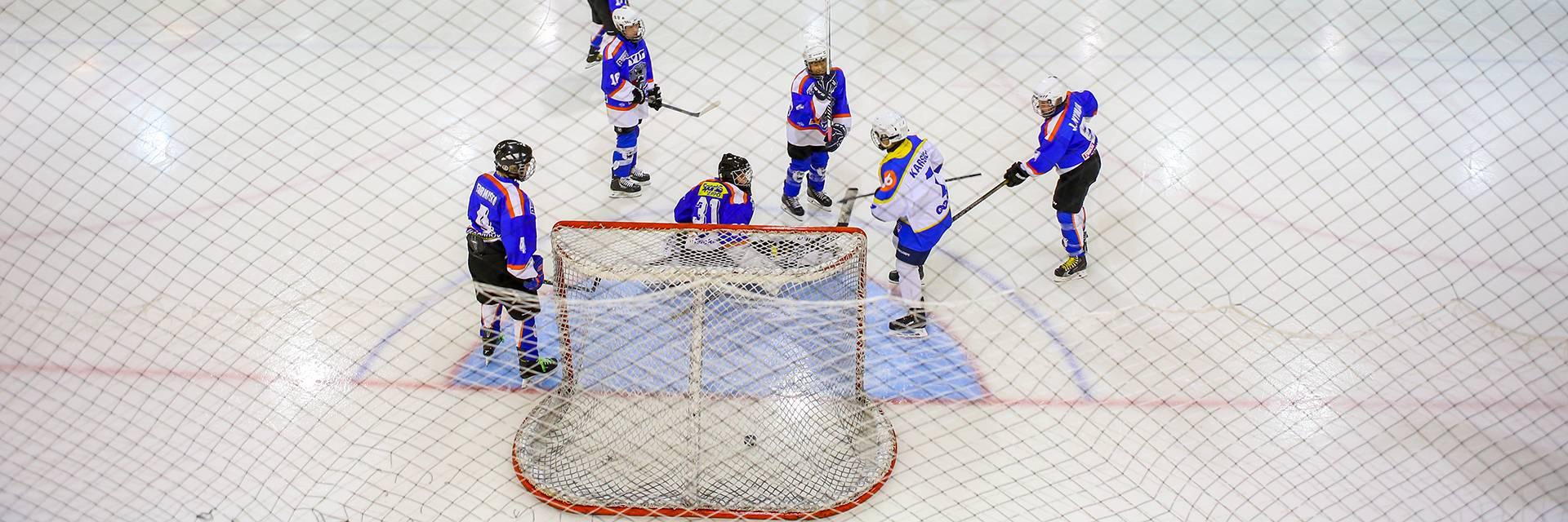 apset pelaavat jääkiekkoa Wareenassa