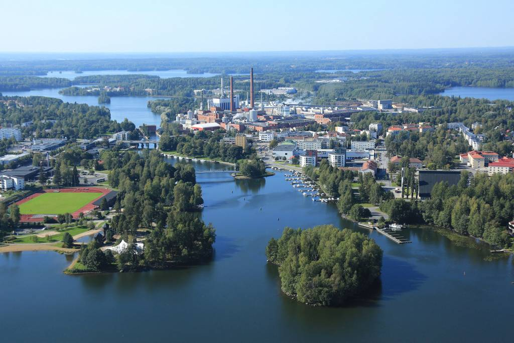 Aerial photograph from city of Valkeakoski