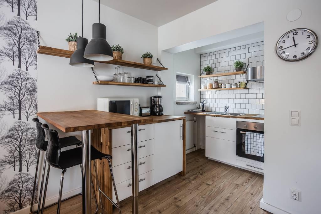 Haave Apartments majoitushuoneen keittiö