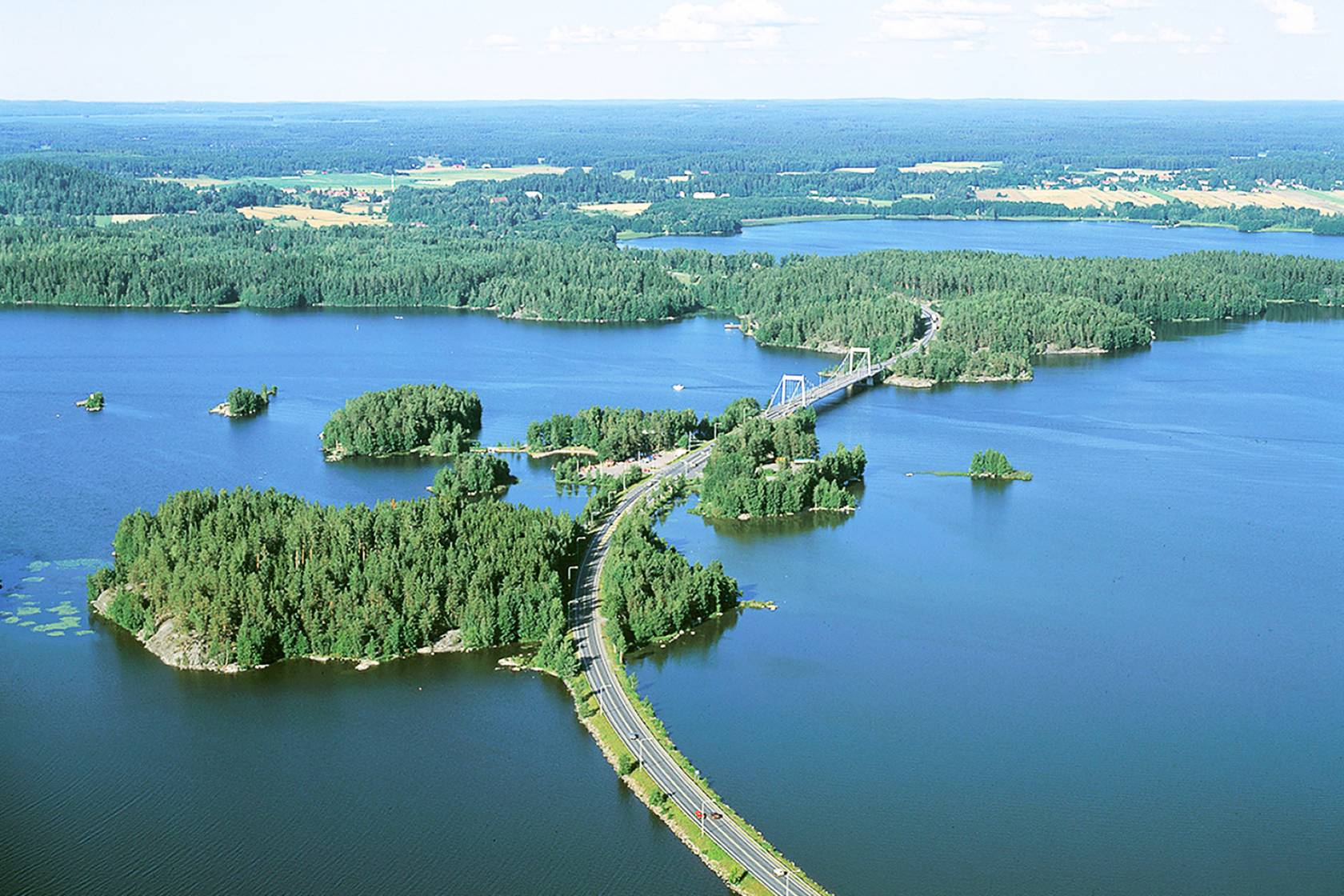 Aerial photograph from Sääksmäki bridge