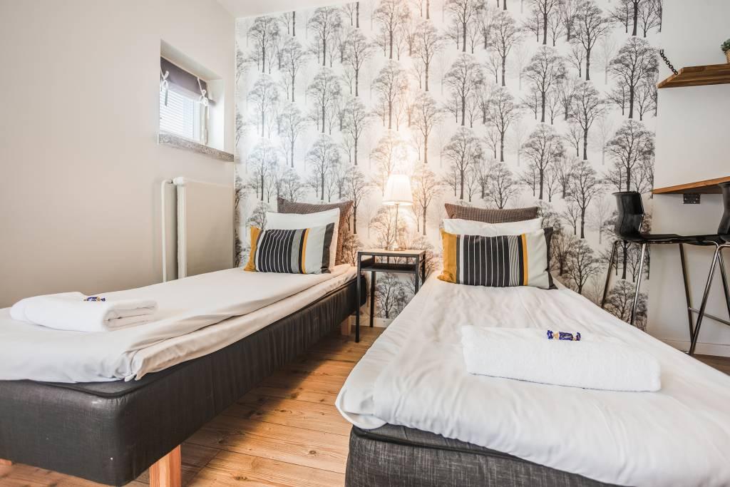 Haave Apartments majoitushuoneen sängyt