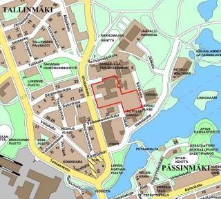 Aluesairaalan kaavamuutos II, sijaintikartta