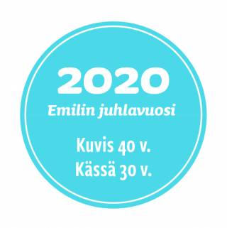 Emilin juhlavuoden logo