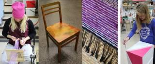 käsitöitä tuoli ja räsymatto