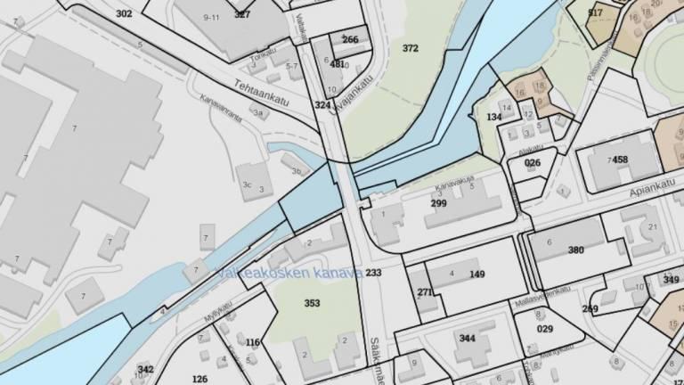 Valkeakosken keskustan kartta