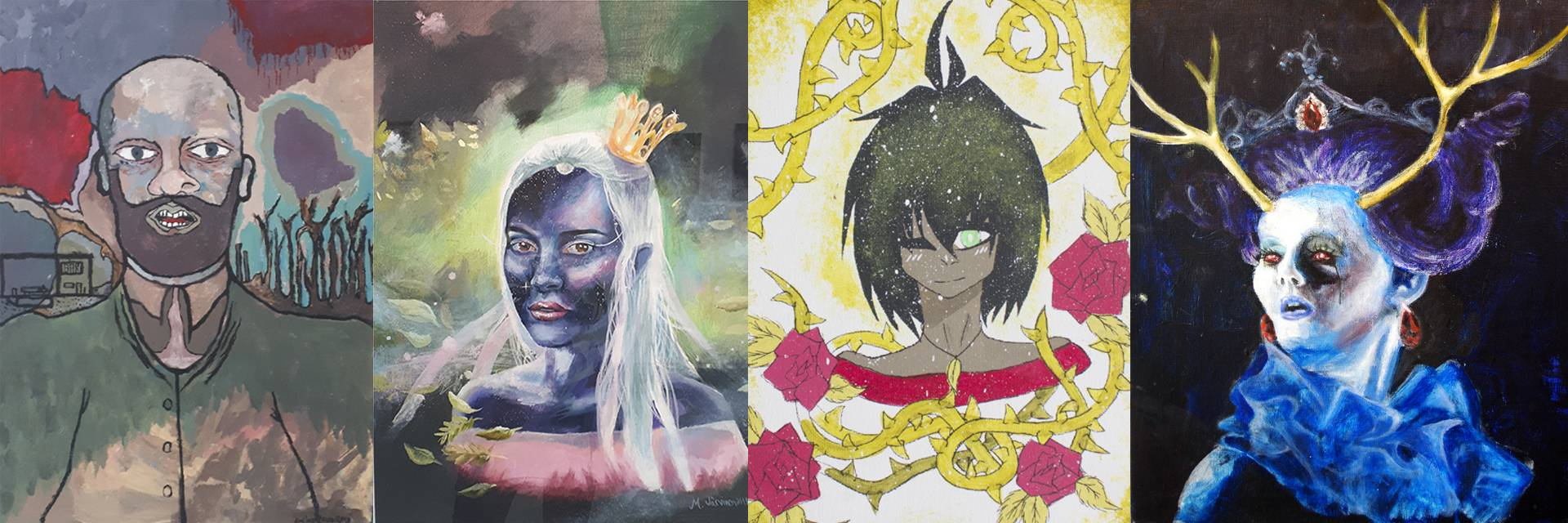 Emilin oppilaiden maalauksia