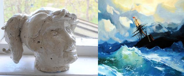 muotokuvaveistos ja merimaalaus
