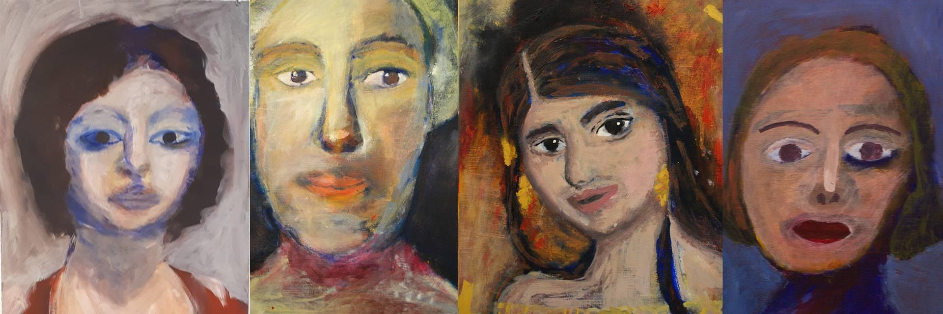 lasten muotokuvamaalauksia
