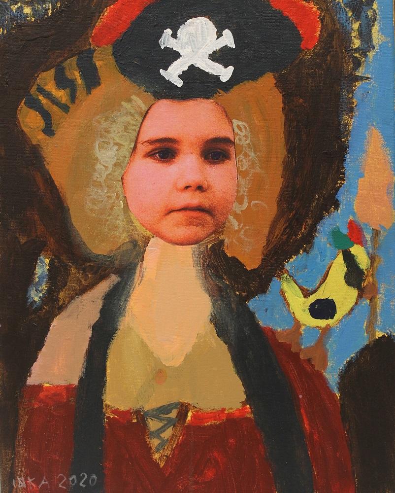 Emilin oppilaan muotokuvamaalaus
