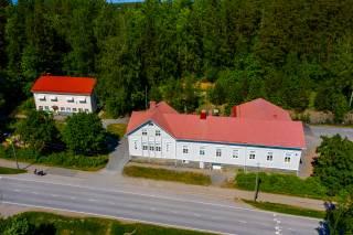 Ilmakuva Rauhalan koulu ja päiväkoti