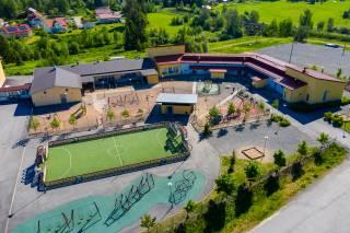 Ilmakuva Kärjenniemen koulu ja päiväkoti