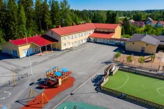 Ilmakuva Kärjenniemen koulusta