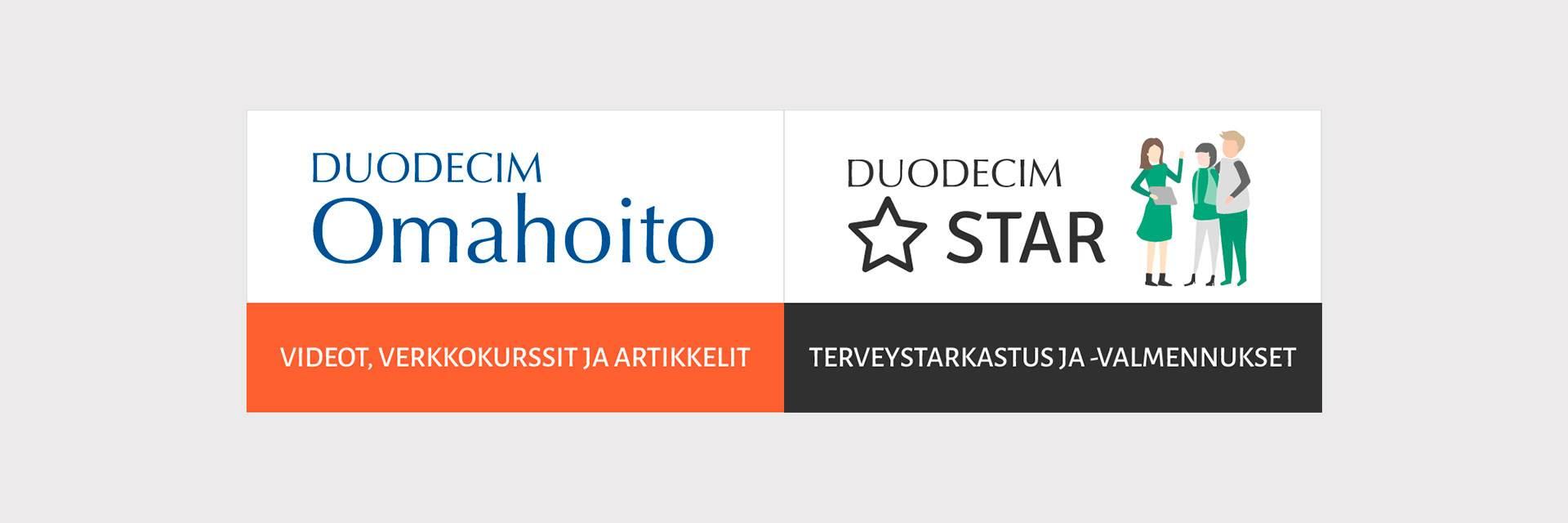 Duodecim Omahoito ja Star-terveysvalmennus palvelut