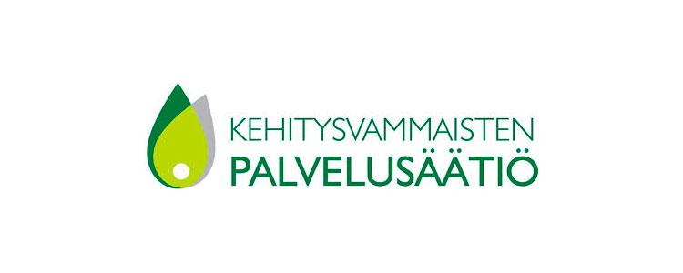Kehitysvammaisten palvelusäätiö -logo.