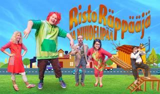 Risto Räppääjä ja Nuudelipää - esityksen näyttelijöitä.