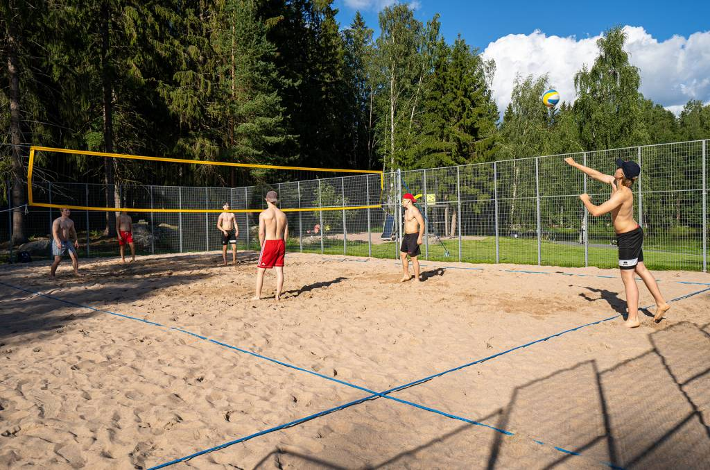 Beach volley field.