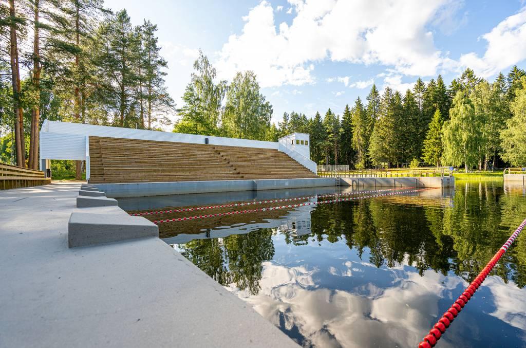 Kirjaslampi swimming stadion.