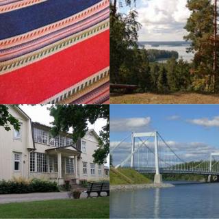 Tekstiilitaidetta, Rapolanharju, Voipaalan taidekeskus, Sääksmäen silta.