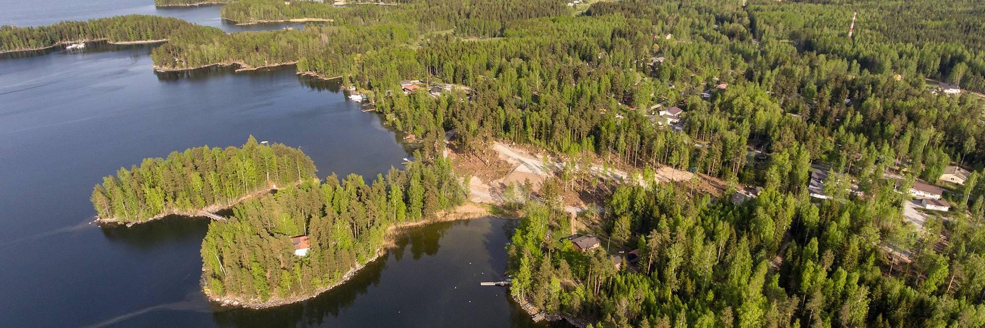 Ilmakuva Koivuniemen asuinalueesta.