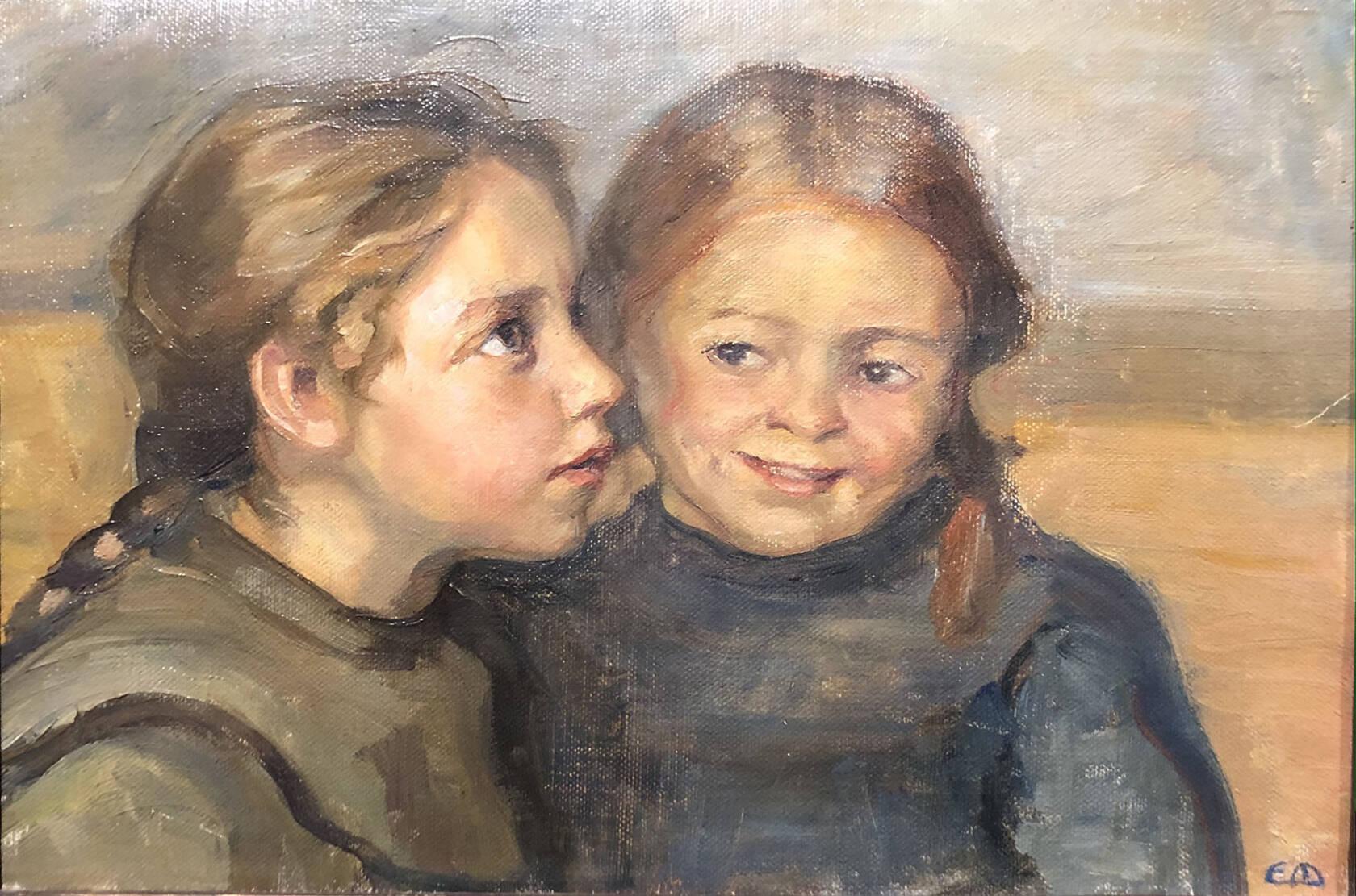 Ebba Masalin tytöt maalaus